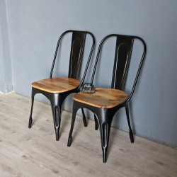 Chair Iron and Wood ABO2106
